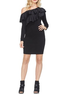 Vince Camuto Tiered Ruffle One-Shoulder Body-Con Dress