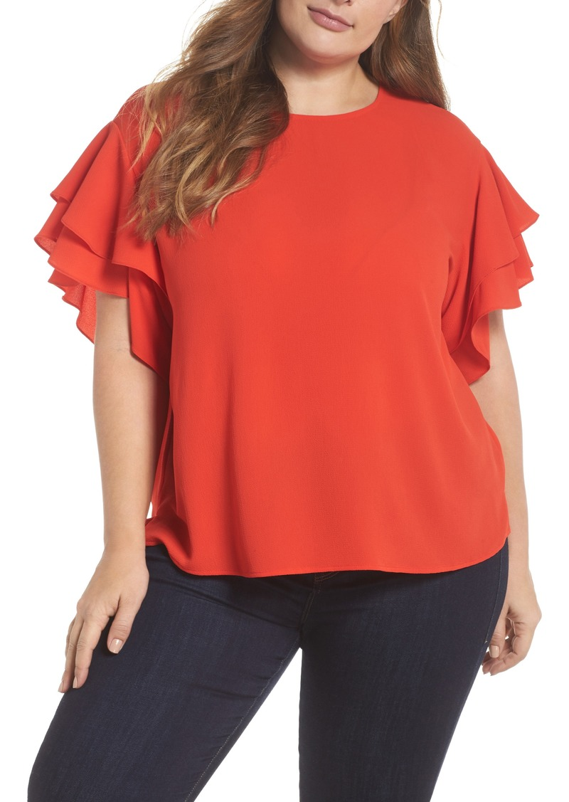 a53d5b241c99b0 Vince Camuto Vince Camuto Tiered Ruffle Sleeve Top (Plus Size ...
