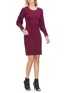 Vince Camuto Tiered Sleeve Stretch Crepe Dress