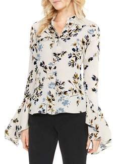 Vince Camuto Timeless Bouquet Crepe Blouse