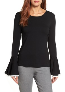 Vince Camuto Tipped Bell Sleeve Top (Regular & Petite)