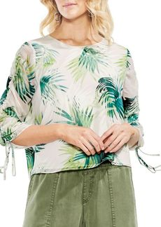 Vince Camuto Topic Heat Drawstring-Sleeve Blouse