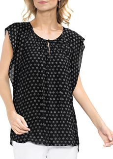 Vince Camuto Topic Heat Flutter-Sleeve Blouse