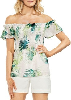 Vince Camuto Topic Heat Tropical-Print Blouse