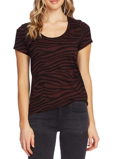 Vince Camuto Tranquil Animal Print Scoop Neck Tee
