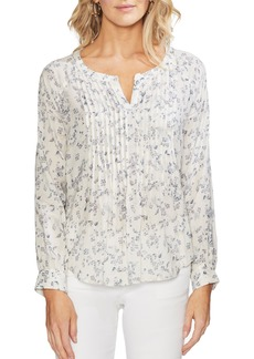 Vince Camuto Tranquil Ditsy Pleat Front Top