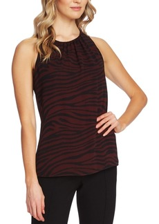Vince Camuto Tranquil Tiger Printed Sleeveless Blouse
