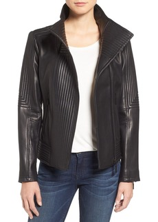 Vince Camuto Trapunto Leather Jacket