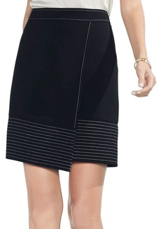 Vince Camuto Trapunto Wrap Mini Skirt