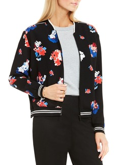 VINCE CAMUTO Travelling Bloom Floral Bomber Jacket