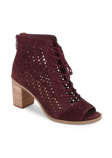 Vince Camuto Trevan Perforated Suede Booties