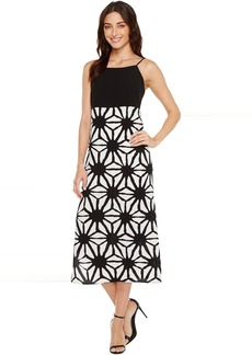Vince Camuto Tribal Starlight Maxi Dress w/ Side Slits