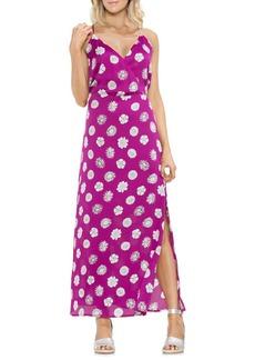 Vince Camuto Tropic Heat Floral Wrap Front Maxi Dress