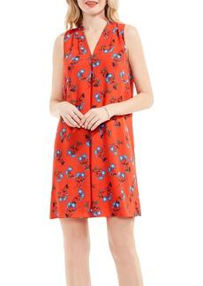 Vince Camuto Tropic Spritz Invert Pleat A-Line Dress
