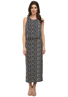 Vince Camuto Tropical Etching Maxi Dress w/ Crop Over