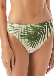Vince Camuto Tropical Palm & Cat-Print Reversible High-Waist Bikini Bottoms Women's Swimsuit