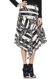 Vince Camuto Tropical Shadows Asymmetrical Skirt