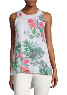 Vince Camuto Tropical Sleeveless Top