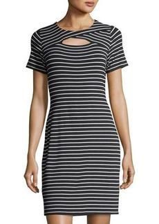Vince Camuto Tropics Stripe Short-Sleeve Dress