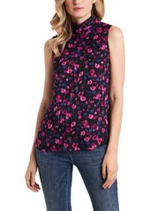 Vince Camuto Twilight Floral Mock Neck Sleeveless Top