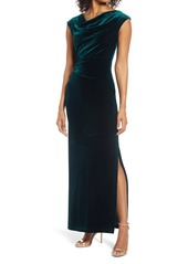 Vince Camuto Twist Back Velvet Gown
