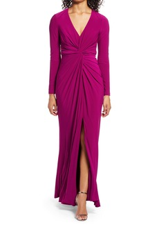 Vince Camuto Twist Front Long Sleeve Gown