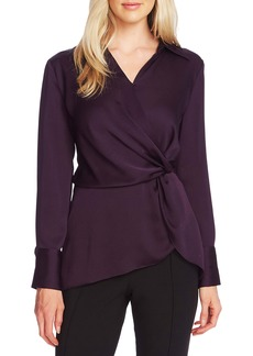 Vince Camuto Twist Front Satin Top