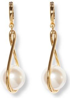 Vince Camuto Twist Imitation Pearl Drop Earrings