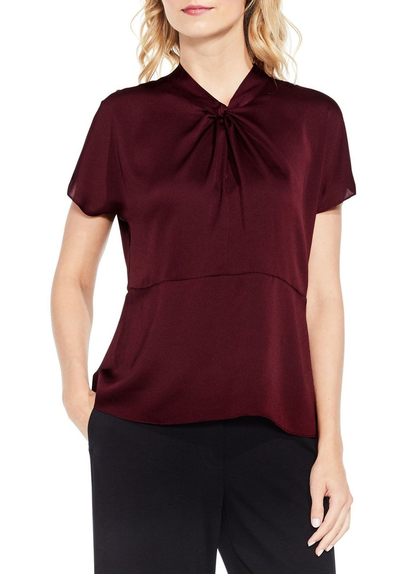 Vince Camuto Twist Mock Neck Blouse