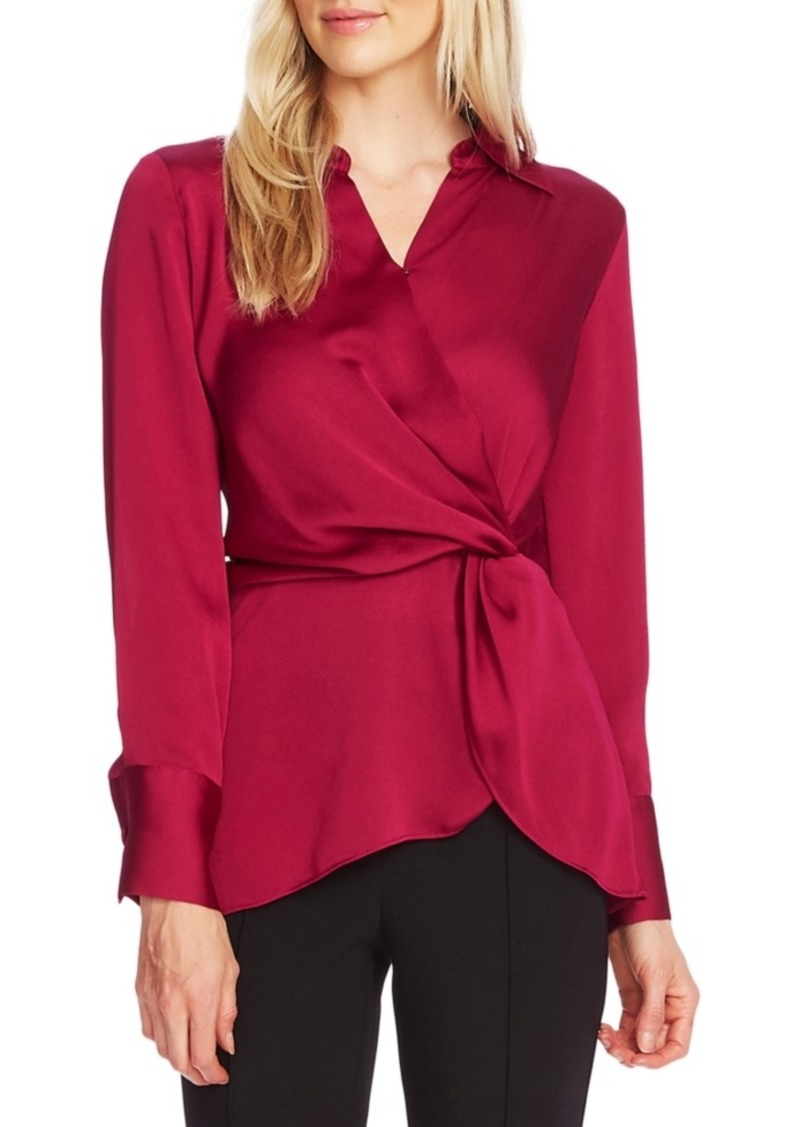 Vince Camuto Twist Peplum Top