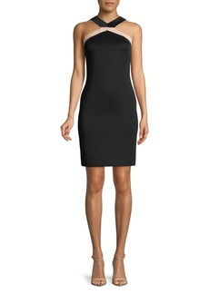 Vince Camuto Twist Top Halter Sheath Dress