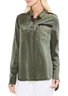 Vince Camuto Two-Pocket Military Blouse