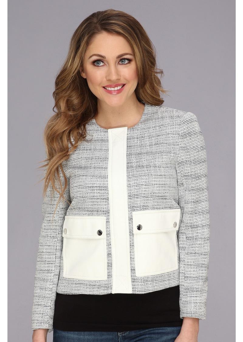 Vince Camuto Two-Pocket Tweed Jacket
