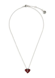 Vince Camuto Two-Tone & Ruby & Clear Crystal Heart Pendant Necklace