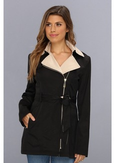 Vince Camuto Two-Tone Asymmetric Zip Trench F8101