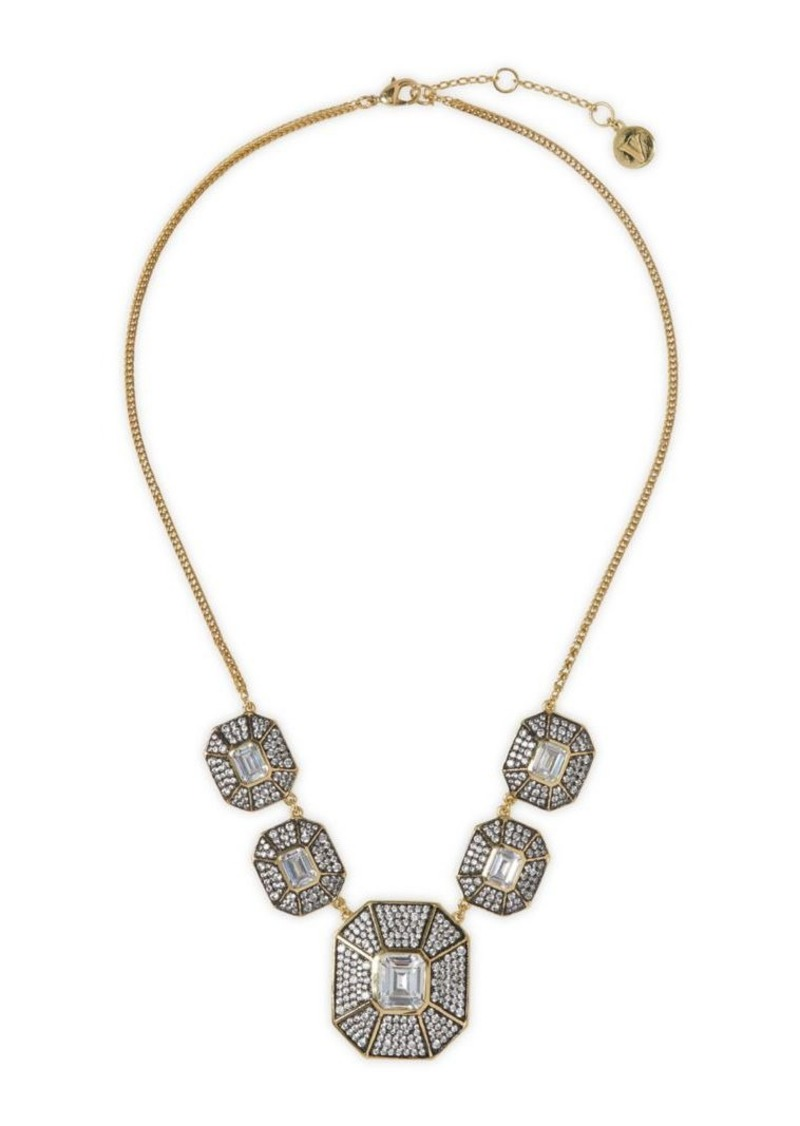 Vince Camuto Two-Tone Crystal Statement Necklace