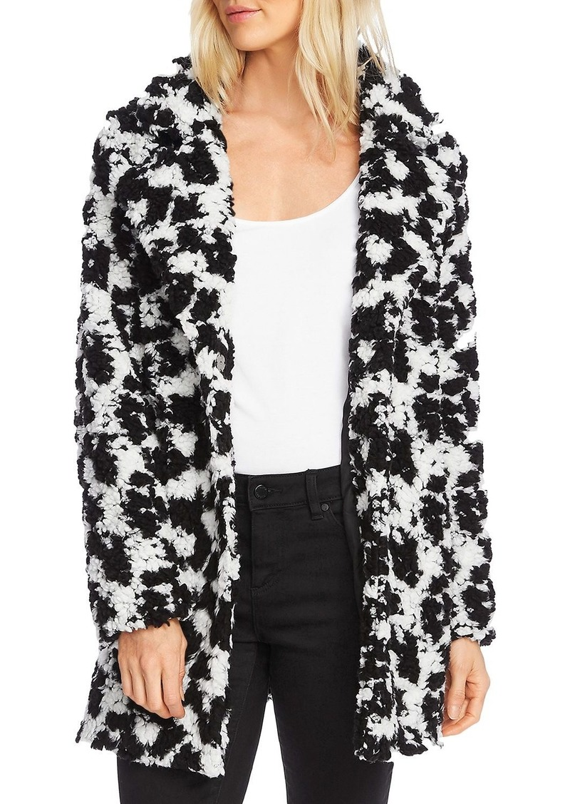 VINCE CAMUTO Two-Tone Faux Fur Jacket