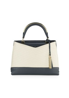 Vince Camuto Two-Tone Leather Satchel