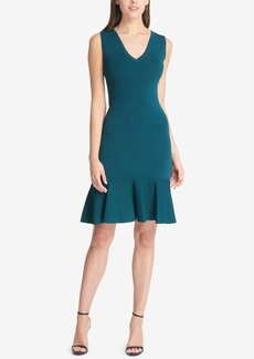 Vince Camuto V-Neck Flounce Dress