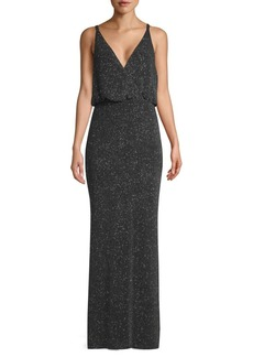 Vince Camuto V-Neck Knit Gown