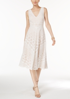 Vince Camuto V-Neck Lace Dress