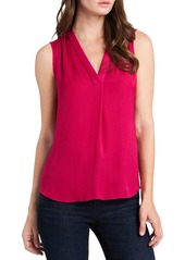 VINCE CAMUTO V Neck Rumple Top