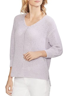 VINCE CAMUTO V-Neck Shimmer Sweater