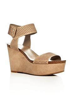 VINCE CAMUTO Valamie Perforated Platform Wedge Sandals