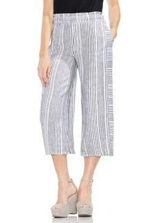 Vince Camuto Variegated Stripe Linen Crop Pants