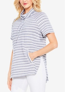 Two By Vince Camuto Variegated Stripe Pullover Top