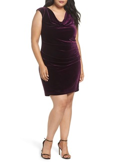 Vince Camuto Velvet Body-Con Dress (Plus Size)