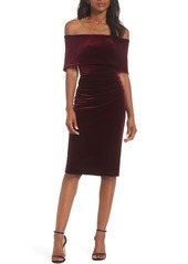 Vince Camuto Velvet Off the Shoulder Dress
