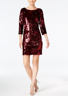 Vince Camuto Velvet Sequined Sheath Dress