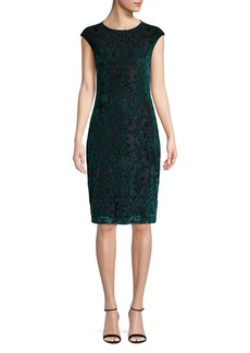 Vince Camuto Velvet Sheath Dress